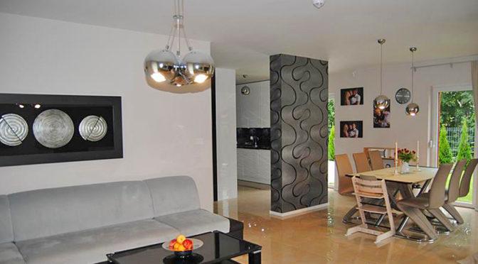 nowoczesne wnętrze luksusowej rezydencji do sprzedaży w Zgorzelcu