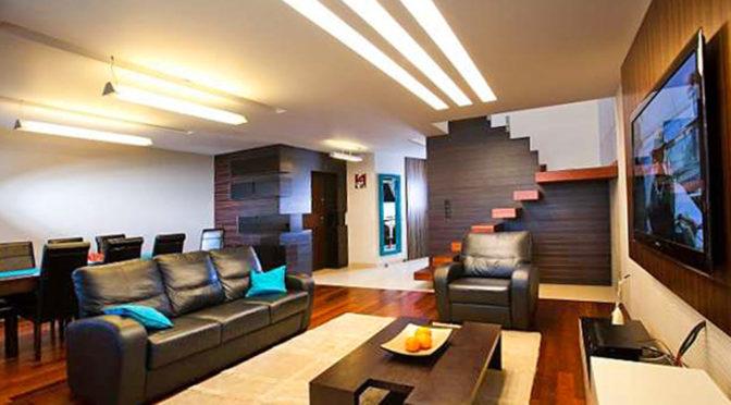 nowoczesny salon w luksusowym apartamencie w Białymstoku na sprzedaż