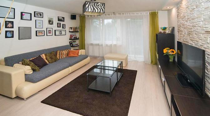 luksusowy salon w ekskluzywnym apartamencie w Krakowie na sprzedaż