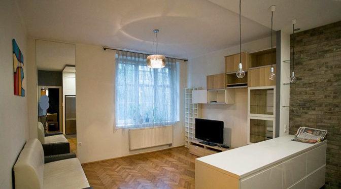 nowoczesny saloon w luksusowym apartamencie w Krakowie do wynajęcia