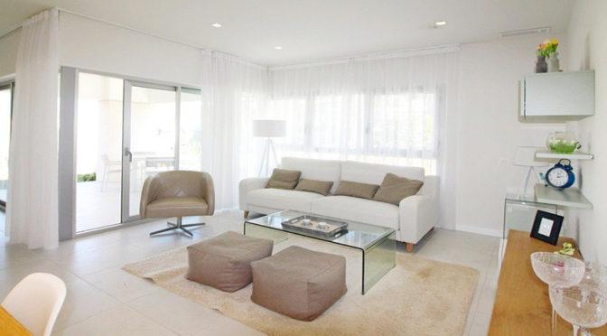 prestiżowy salon w luksusowym apartamencie do sprzedaży w Hiszpanii