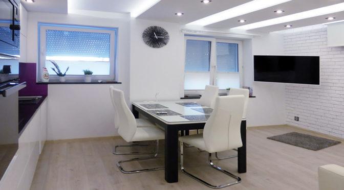 nowoczesne wnętrze luksusowego apartamentu w Kwidzynie na wynajem