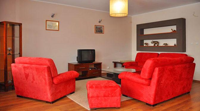 ekskluzywny salon w luksusowym apartamencie do wynajmu w Toruniu