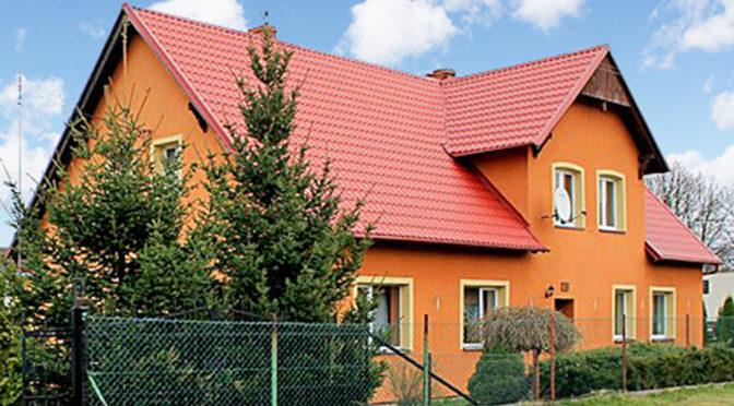 front ekskluzywnej rezydencji do sprzedaży w okolicach Starogardu Gdańskiego