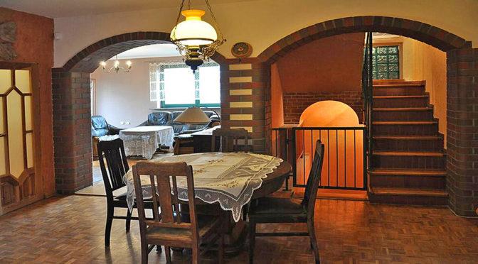 stylowe wnętrze ekskluzywnej rezydencji do sprzedaży w okolicy Legnicy