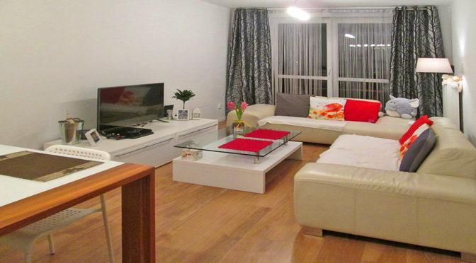 komfortowy salon w luksusowym apartamencie w okolicy Ostrowa Wielkopolskiego na sprzedaż