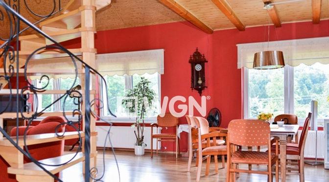 wnętrze salonu w luksusowej rezydencji w okolicach Kłodzka na sprzedaż