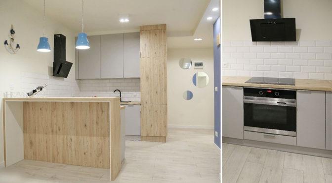 komfortowo umeblowana i wyposażona kuchnia w ekskluzywnym apartamencie na wynajem w Szczecinie