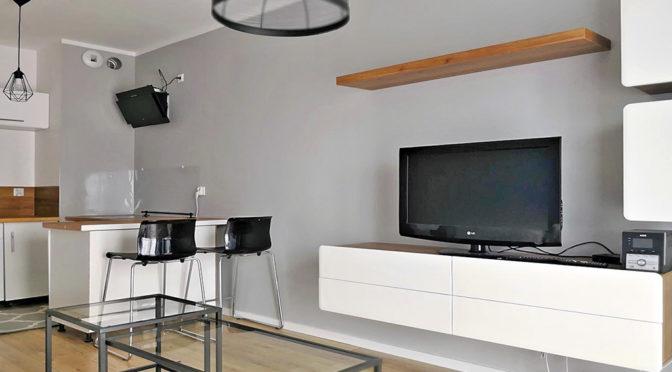 nowoczesne wnętrze luksusowego apartamentu w Krakowie do wynajęcia