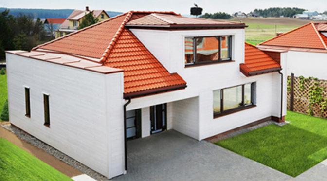 widok z lotu ptaka na luksusową rezydencję do sprzedaży w okolicach Białegostoku
