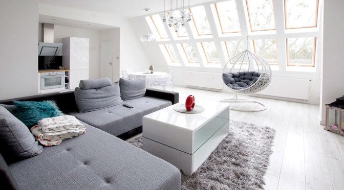 przestronne, zadbane wnętrze ekskluzywnego apartamentu do sprzedaży w Szczecinie