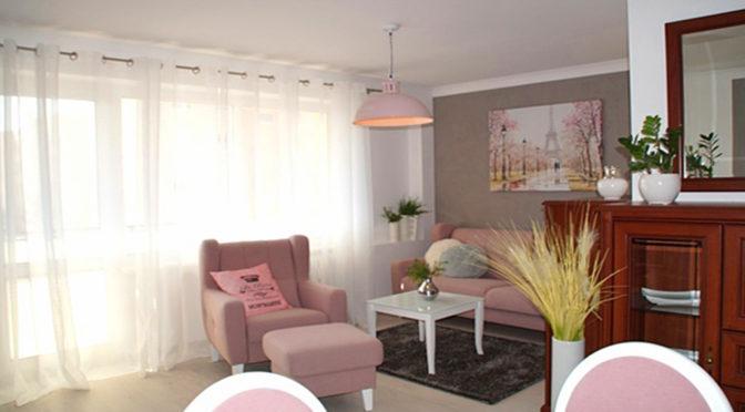 wytworny salon w ekskluzywnym apartamencie do wynajmu w Słupsku