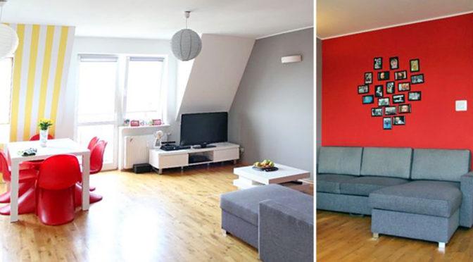 po lewej salon, po prawej luksusowy pokój w ekskluzywnym apartamencie do sprzedaży w Szczecinie