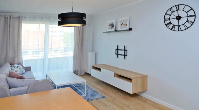 nowoczesny salon w luksusowym apartamencie do wynajmu w Szczecinie