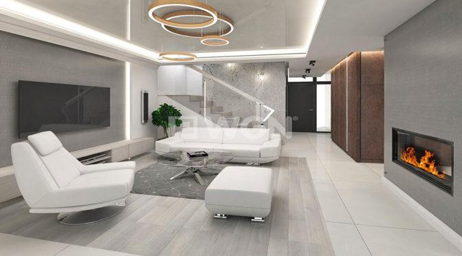 nowoczesne wnętrze ekskluzywnej rezydencji do sprzedaży na Mazurach