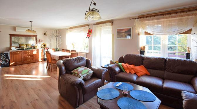 komfortowy salon w ekskluzywnej rezydencji do sprzedaży w Suwałkach
