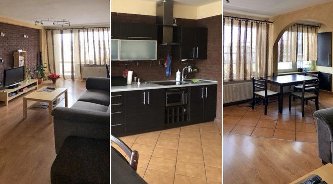 od lewej ekskluzywny salon, nowoczesny aneks kuchenny oraz komfortowy pokój w luksusowym apartamencie do sprzedaży w Katowicach