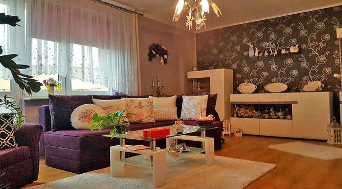 nowoczesny salon w luksusowym apartamencie do sprzedaży w Tczewie