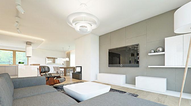 nowoczesne wnętrze luksusowej rezydencji w Częstochowie na sprzedaż