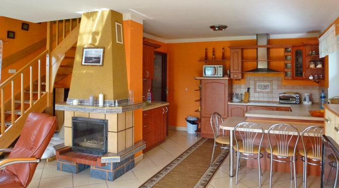salon w stylu klasycznym z kominkiem w luksusowej rezydencji do wynajęcia w Kwidzynie