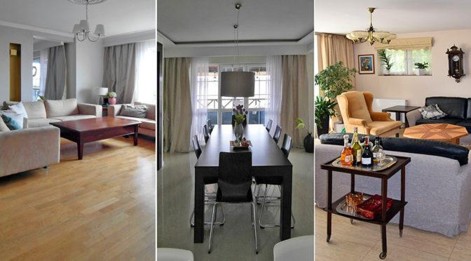 salon oraz jadalnia w luksusowej rezydencji do sprzedaży Białystok (okolice)