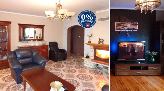 po lewej salon, po prawej jeden z pokoi w ekskluzywnej rezydencji do sprzedaży nad morzem
