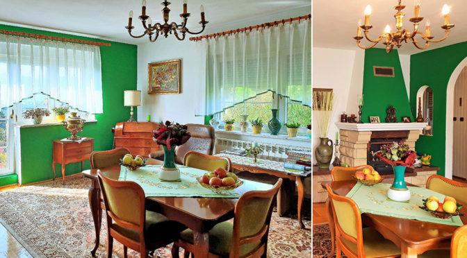 salon z kominkiem w luksusowym salonie ekskluzywnej rezydencji do sprzedaży Bielsko-Biała