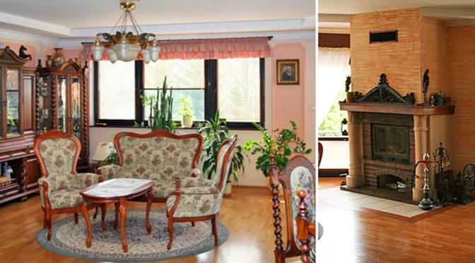 urządzone w klasycznym stylu luksusowe wnętrze ekskluzywnej rezydencji do sprzedaży Chrzanów