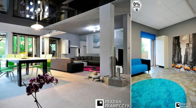 nowoczesny i elegancki salon w ekskluzywnej rezydencji do sprzedaży Gliwice (okolice)