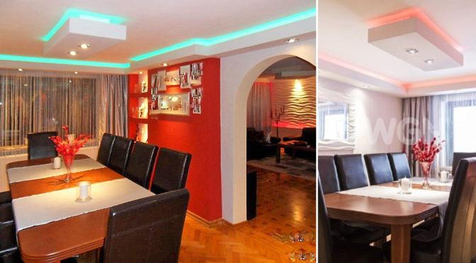 widok na prestiżowy salon w ekskluzywnej rezydencji do sprzedaży Wisła
