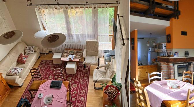 widok z góry na salon w luksusowej rezydencji do sprzedaży Elbląg