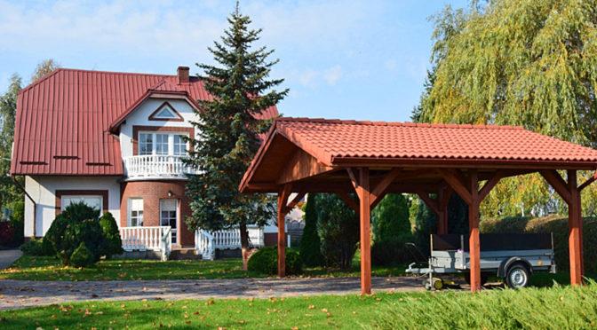 widok od strony ogrodu i działki na luksusowa rezydencję do sprzedaży Słupsk