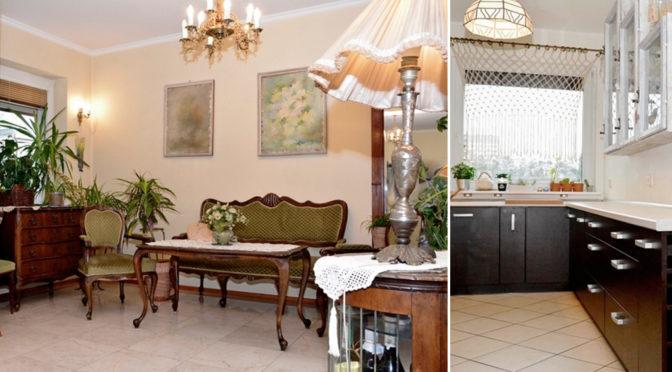 urządzone w stylu klasycznym wnętrze salonu w ekskluzywnej rezydencji do sprzedaży Poznań