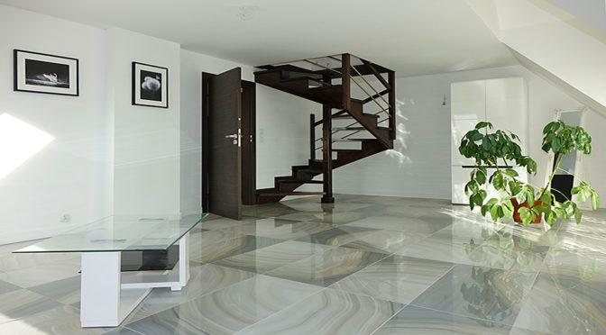 zaprojektowane w nowoczesnym designie wnętrze ekskluzywnej rezydencji do sprzedaży Toruń (okolice)