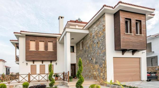 frontowa część luksusowej rezydencji do sprzedaży Turcja (Bellapais)
