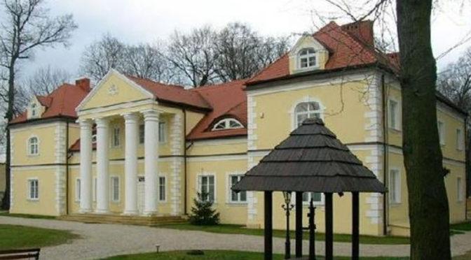 reprezentacyjne wejście do luksusowego pałacu na sprzedaż Śląsk