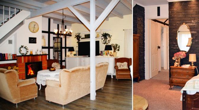 komfortowy salon oraz elegancka sypialnia w rezydencji do sprzedaży Słupsk