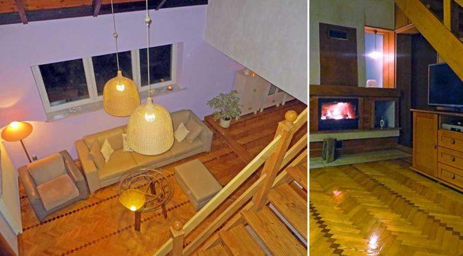 widok z góry na salon w luksusowej rezydencji do sprzedaży Kalisz
