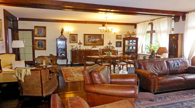 wytworne i eleganckie wnętrze salonu w ekskluzywnej rezydencji do sprzedaży Kwidzyn