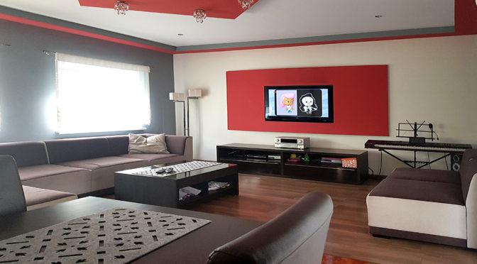 komfortowy salon w luksusowej rezydencji do sprzedaży Zielona Góra (okolice)