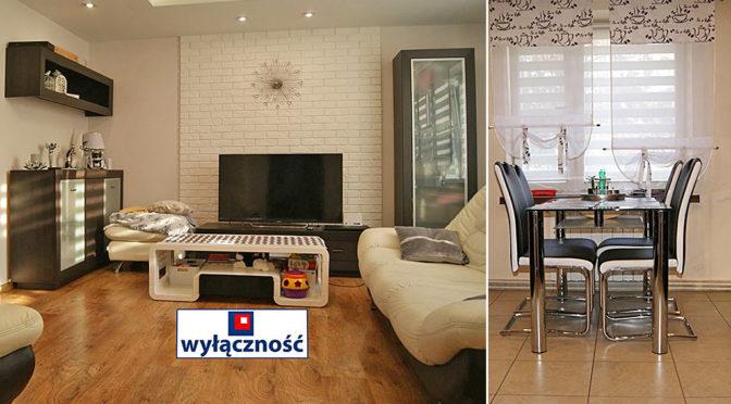 po lewej komfortowy salon, po prawej jadalnia w ekskluzywnej rezydencji do sprzedaży Żagań (okolice)