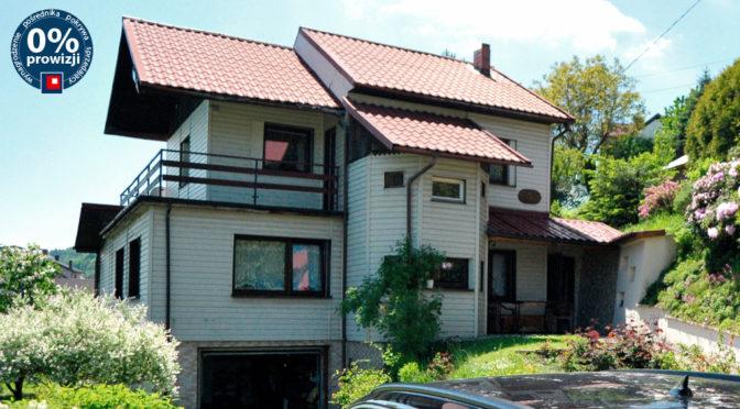 widok od strony ogrodu na luksusową rezydencję na sprzedaż Bielsko-Biała (okolice)