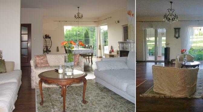 zaprojektowane i urządzony w klasycznym stylu wnętrze luksusowej rezydencji do sprzedaży Grudziądz