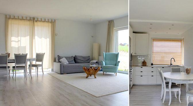 komfortowy salon i funkcjonalna kuchnia w ekskluzywnej rezydencji do sprzedaży Tczew