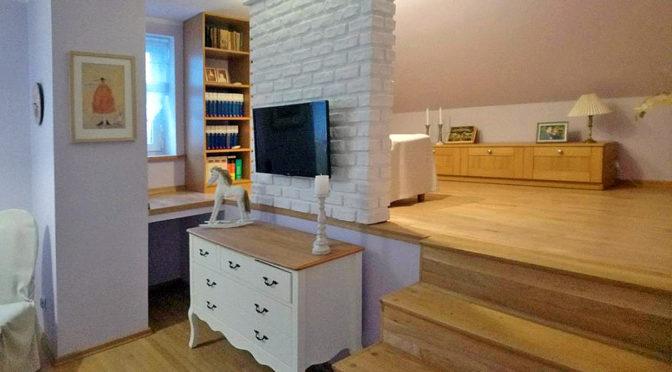 przestronne wnętrze luksusowej rezydencji do sprzedaży Leszno
