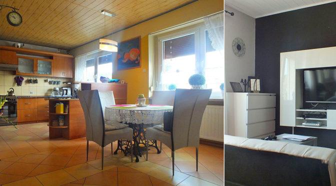 po lewej gabinet, po prawej fragment salonu w ekskluzywnej rezydencji do sprzedaży Poznań (okolice)