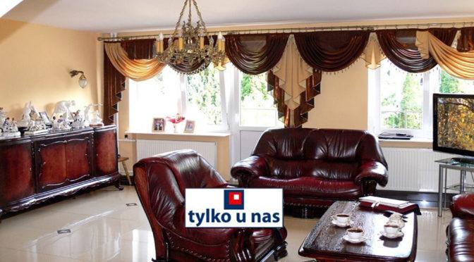 urządzony w stylu klasycznym salon w ekskluzywnej rezydencji na sprzedaż Inowrocław