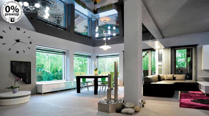 zaprojektowane w nowoczesnym designie wnętrze luksusowej rezydencji do sprzedąży Gliwice (okolice)