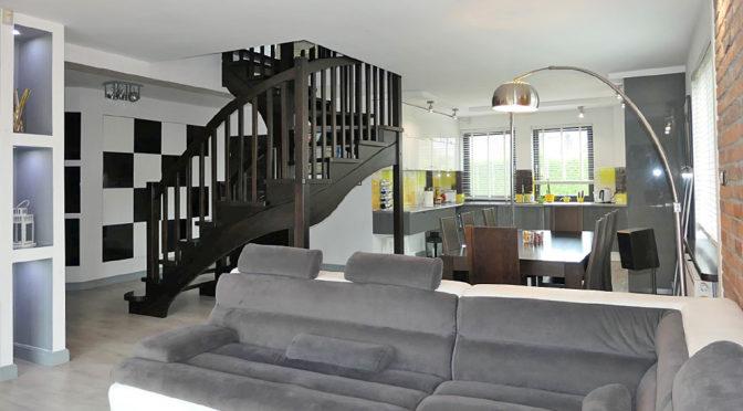 komfortowy salon w ekskluzywnej rezydencji do sprzedaży Malbork