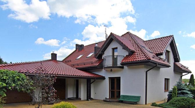 widok od frontu na luksusową rezydencję do sprzedaży Wieluń (okolice)